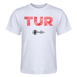 Turkey Euro 2016 Elements Kid's T-Shirt (White)