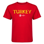 Turkey Euro 2016 Core Kid's T-Shirt (Red)