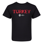 Turkey Euro 2016 Core Kid's T-Shirt (Black)