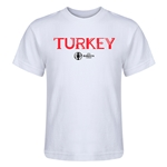 Turkey Euro 2016 Core Kid's T-Shirt (White)