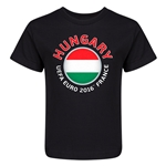 Hungary Euro 2016 Fashion Kid's T-Shirt (Black)