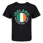 Ireland Euro 2016 Fashion Kid's T-Shirt (Black)
