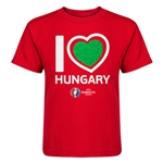 Hungary Euro 2016 Heart Kid's T-Shirt (Red)