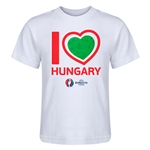 Hungary Euro 2016 Heart Kid's T-Shirt (White)
