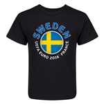 Sweden Euro 2016 Fashion Kid's T-Shirt (Black)