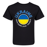 Ukraine Euro 2016 Fashion Kid's T-Shirt (Black)
