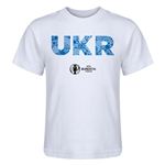 Ukraine Euro 2016 Elements Kid's T-Shirt (White)