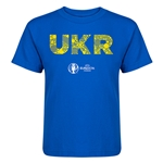 Ukraine Euro 2016 Elements Kid's T-Shirt (Royal)