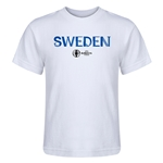 Sweden Euro 2016 Core Kid's T-Shirt (White)
