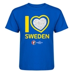 Sweden Euro 2016 Heart Kid's T-Shirt (Royal)