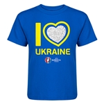 Ukraine Euro 2016 Heart Kid's T-Shirt (Royal)