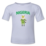 Nigeria Animal Mascot Kids T-Shirt (White)