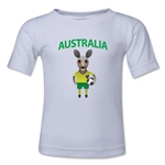 Australia Animal Mascot Kids T-Shirt (White)