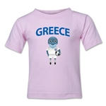 Greece Animal Mascot Kids T-Shirt (Pink)