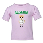 Algeria Animal Mascot Kids T-Shirt (Pink)