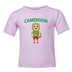 Cameroon Animal Mascot Kids T-Shirt (Pink)