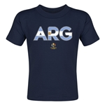 Argentina Copa America 2016 Flag Letter Toddler T-Shirt (Navy)