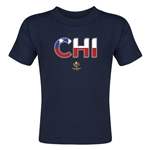 Chile Copa America 2016 Flag Letter Toddler T-Shirt (Navy)