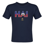 Haiti Copa America 2016 Flag Letter Toddler T-Shirt (Navy)