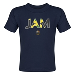 Jamaica Copa America 2016 Flag Letter Toddler T-Shirt (Navy)