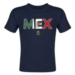 Mexico Copa America 2016 Flag Letter Toddler T-Shirt (Navy)