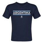 Argentina Copa America 2016 Country Toddler T-Shirt (Navy)