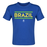 Brazil Copa America 2016 Country Toddler T-Shirt (Royal)