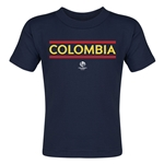 Colombia Copa America 2016 Country Toddler T-Shirt (Navy)