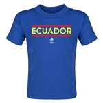 Ecuador Copa America 2016 Country Toddler T-Shirt (Royal)