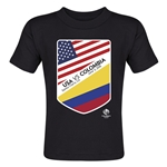 USA vs Colombia Copa America 2016 Matchup Toddler T-Shirt (Black)