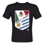 Mexico vs Uruguay Copa America 2016 Matchup Toddler T-Shirt (Black)