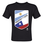 Argentina vs Chile Copa America 2016 Matchup Toddler T-Shirt (Black)