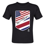USA vs Costa Rica Copa America 2016 Matchup Toddler T-Shirt (Black)