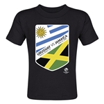 Uruguay vs Jamaica Copa America 2016 Matchup Toddler T-Shirt (Black)