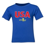 USA CONCACAF Gold Cup 2015 Big Logo Toddler T-Shirt (Royal)