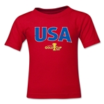 USA CONCACAF Gold Cup 2015 Big Logo Toddler T-Shirt (Red)