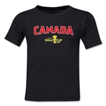 Canada CONCACAF Gold Cup 2015 Big Logo Toddler T-Shirt (Black)
