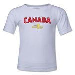 Canada CONCACAF Gold Cup 2015 Big Logo Toddler T-Shirt (White)