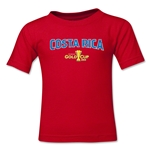 Costa Rica CONCACAF Gold Cup 2015 Big Logo Toddler T-Shirt (Red)