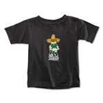 1970 FIFA World Cup Juanito Mascot Toddler T-Shirt (Black)