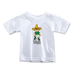 1970 FIFA World Cup Juanito Mascot Toddler T-Shirt (White)
