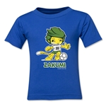 2010 FIFA World Cup Zakumi Mascot Toddler T-Shirt (Royal)