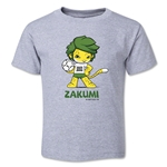 2010 FIFA World Cup Zakumi Mascot Toddler T-Shirt (Gray)