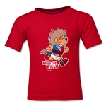 1966 FIFA World Cup Willie Mascot Logo Toddler T-Shirt (Red)