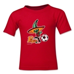 1986 FIFA World Cup Pique Mascot Logo Toddler T-Shirt (Red)