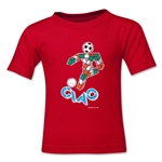 1990 FIFA World Cup Ciao Mascot Logo Toddler T-Shirt (Red)