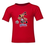 1994 FIFA World Cup Striker Mascot Logo Toddler T-Shirt (Red)