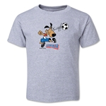 1994 FIFA World Cup Striker Mascot Logo Toddler T-Shirt (Grey)