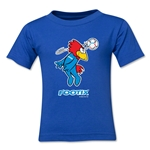 1998 FIFA World Cup Footix Mascot Logo Toddler T-Shirt (Royal)