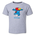 1998 FIFA World Cup Footix Mascot Logo Toddler T-Shirt (Grey)